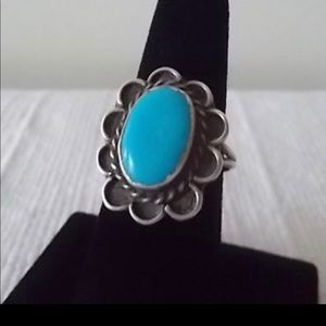 Jewelry - Vintage Turquoise Sterling Silver Ring